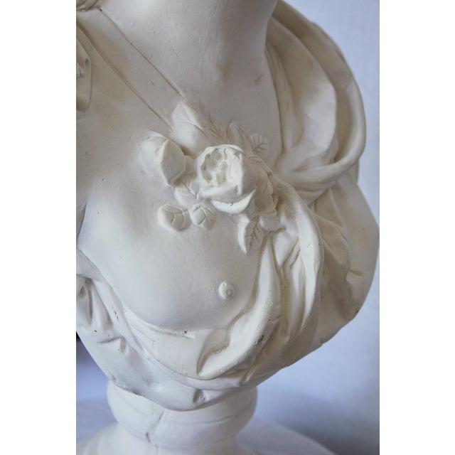 Elegant Hollywood Regency Large Plaster Bust For Sale - Image 11 of 13