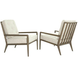 1950s Classic Lounge Chairs by T.H. Robsjohn-Gibbings for Widdicomb - a Pair For Sale