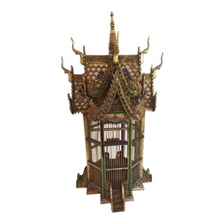 Asian Spirit House Thai Shrine Temple Bird Cage For Sale