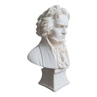 Vintage Faro Italian Ludwig Van Beethoven Bust For Sale