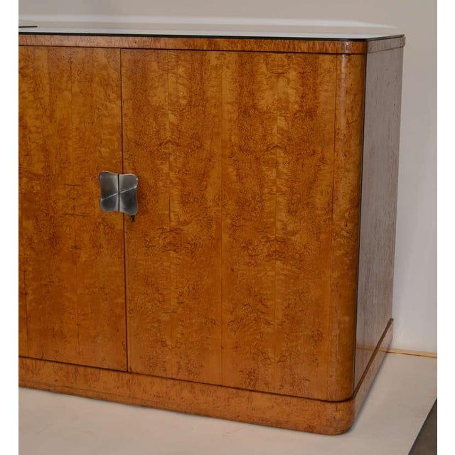 European Art Deco Burl Cabinets - a Pair For Sale - Image 4 of 4