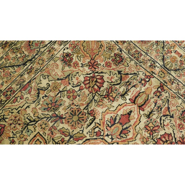 Antique Persian Kerman Lavar Rug - 4′4″ × 6′8″ For Sale - Image 4 of 5