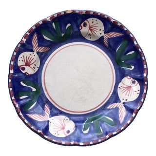 Italian Solimene Fish Plate For Sale