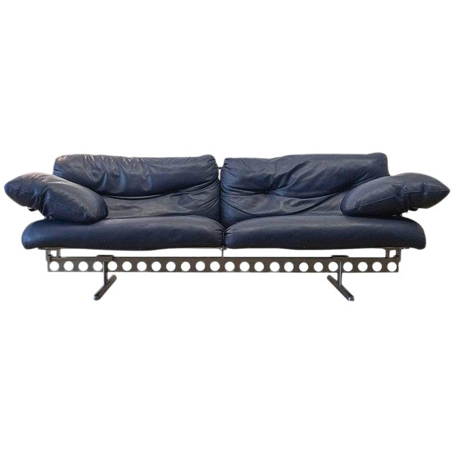 Pierluigi Cerri Ouverture Leather Sofa for Poltrona Frau, Italy, 1980 For Sale