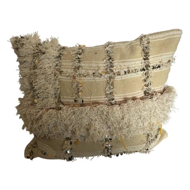 Moroccan Wedding Blanket Pillow - Image 1 of 4