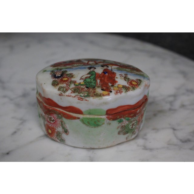 Mid 19th Century Mid 19th Century Antique Japanese Porcelain Box For Sale - Image 5 of 6
