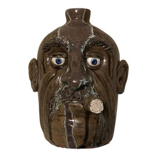 1960s Vintage Ceramic Face Jug For Sale