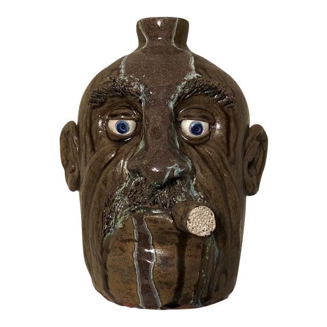 1960s Vintage Ceramic Face Jug For Sale