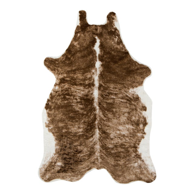"""Plastic Erin Gates by Momeni Acadia Brindle Brown Faux Hide Area Rug - 5'3"""" X 7'10"""" For Sale - Image 7 of 7"""