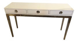 Image of Chrome Console Tables