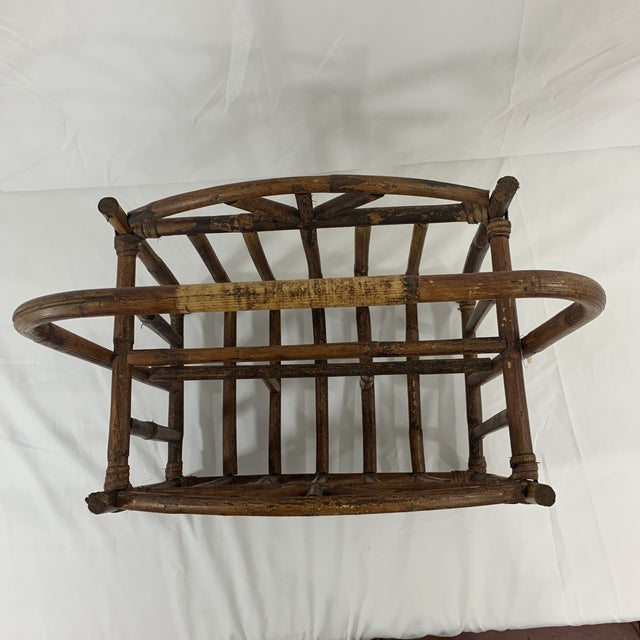 English Bamboo Magazine Rack Ca 1900-1920 For Sale - Image 4 of 9
