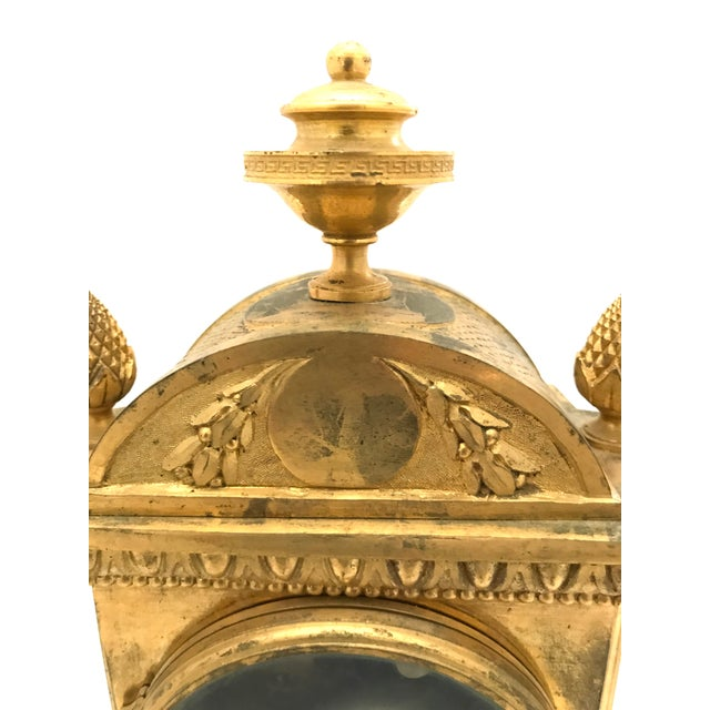 Gold 1776 Antique French Bronze Mantel Clock For Sale - Image 8 of 10