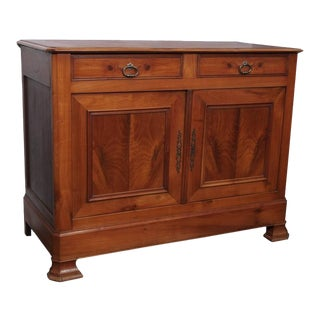Antique French Fruitwood Buffet, Louis Philippe, circa 1840 For Sale