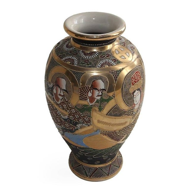Japanese 20th Century Satsuma Japanese Porcelain Vases - a Pair For Sale - Image 3 of 11