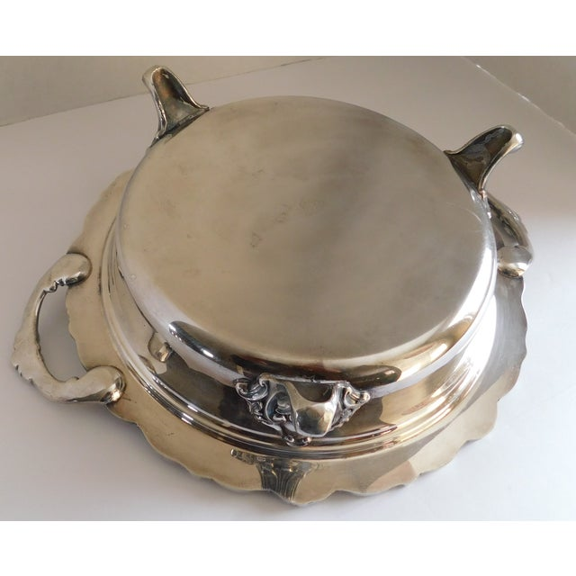 Poole Silver Co. Heavy Silverplate Casserole Dish For Sale In New York - Image 6 of 12