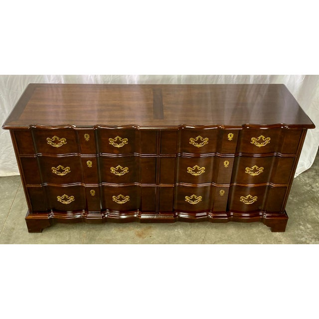 Vintage Chippendale Henredon Mahogany Six Drawer Dresser For Sale In Greensboro - Image 6 of 13
