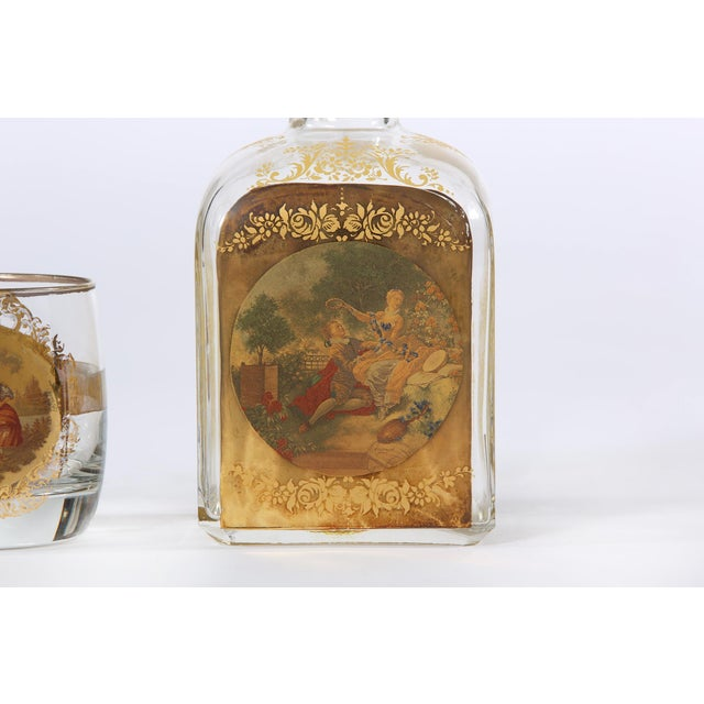 Glass Mid 20th Century Barware Service for Six People For Sale - Image 7 of 11