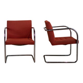 Mid 20th Century Vintage Thonet Chrome Chairs - a Pair For Sale