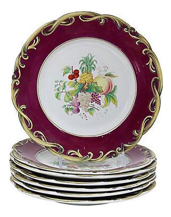 Antique English Victorian Plates - Set of 8  sc 1 st  Chairish & Vintage \u0026 Used Victorian Decorative Plates | Chairish