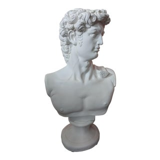Vintage Apollo Plaster Bust Sculpture For Sale
