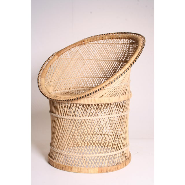 Vintage Boho Chic Wicker Pod Chair - Image 7 of 11