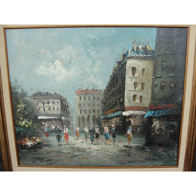 Mid-Century Paris Oil Painting by Burnett - Image 3 of 7