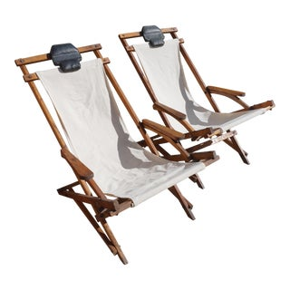 Vintage Rocking Deck Chairs - a Pair For Sale