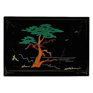Couroc Monterey Cypress Serving Tray For Sale