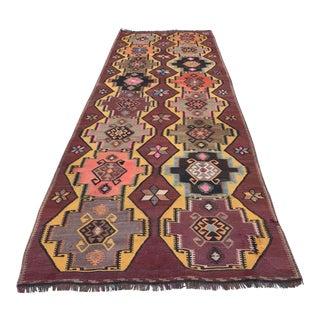 Kurdish Handknotted Turkish Kilim Rug For Sale