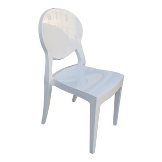 Early 21st Century Vintage L. Battaglia Igloo White Side Chair For Sale