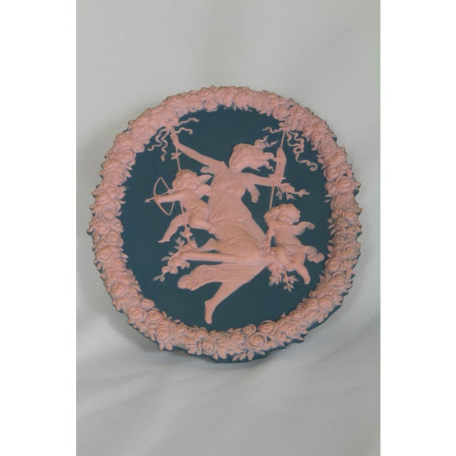 Traditional Blue and Pink Jasperware Plaque For Sale - Image 4 of 6