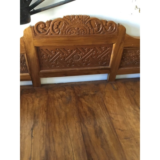 Balinese Teak Day Bench For Sale - Image 5 of 6