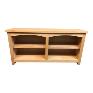 Double Arch Shaker Style Bookcase For Sale