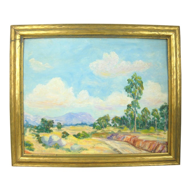 1930s California Landscape Oil Painting For Sale