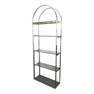 Vintage 5-Shelf Chrome Etagere For Sale
