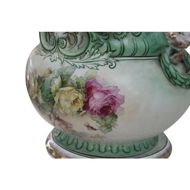 Floral Jardiniere & Pedestal - Image 3 of 4
