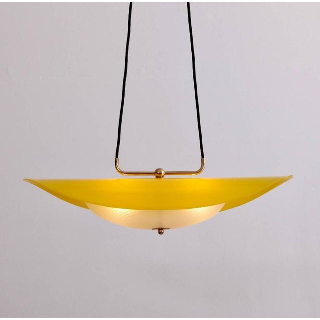 Distinguished italian 1950s pendant with yellow and white perspex italian 1950s pendant with yellow and white perspex shade image 7 of 8 aloadofball Choice Image