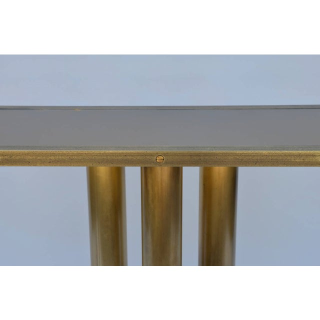 """Contemporary """"Calandre"""" Narrow Brass Mirrored Console For Sale In Los Angeles - Image 6 of 9"""
