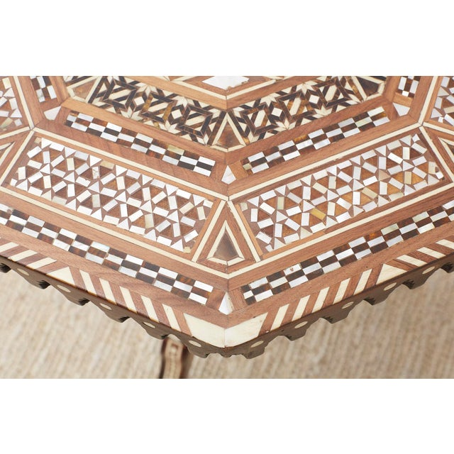 White Pair of Middle Eastern Moorish Inlaid Drink Tables For Sale - Image 8 of 13