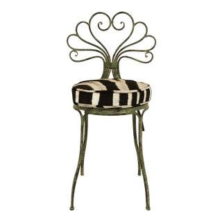 French Style Zebra Hide Garden Chair