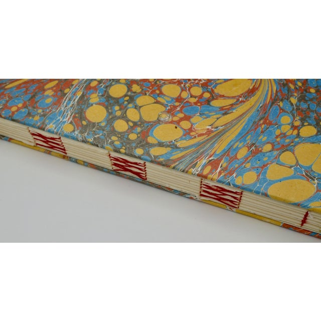 Yellow & Blue Coptic Notebooks- a Pair For Sale - Image 4 of 12