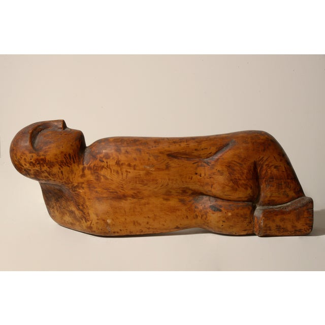 Achiam Wood Sculpture For Sale - Image 4 of 10