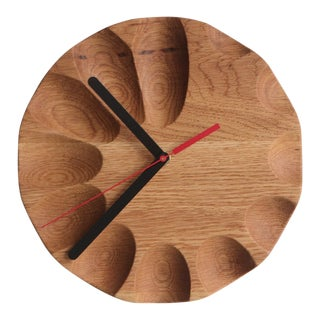 Tgm Oak Gradient Clock For Sale