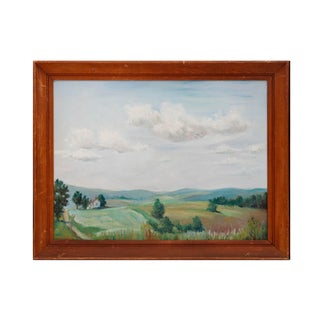 Rural Oil Painting on Board, Signed D.W.Forman For Sale
