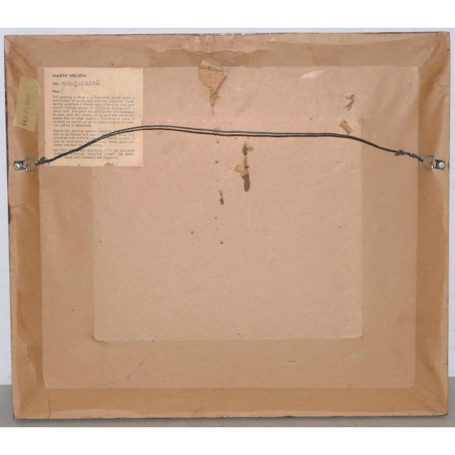 Acrylic Marsh Nelson (American, Mid 20th C.) Mixed Media Abstract Composition C.1967 For Sale - Image 7 of 8