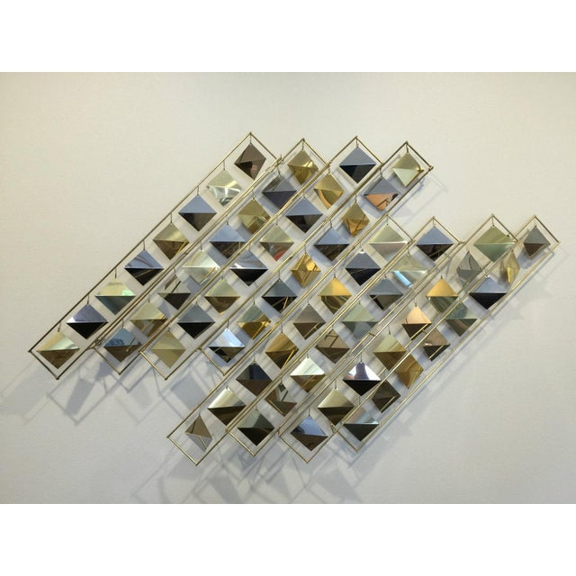 Curtis Jere Kinetic Brass Wall Sculpture - Image 2 of 9