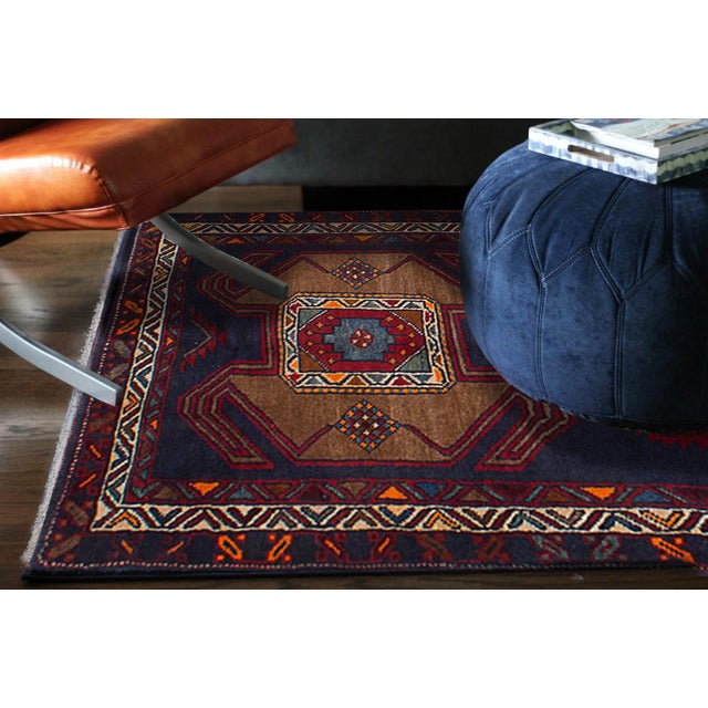 Vintage Persian Tribal Ardabil Rug - 3″ × 8″ - Image 3 of 3
