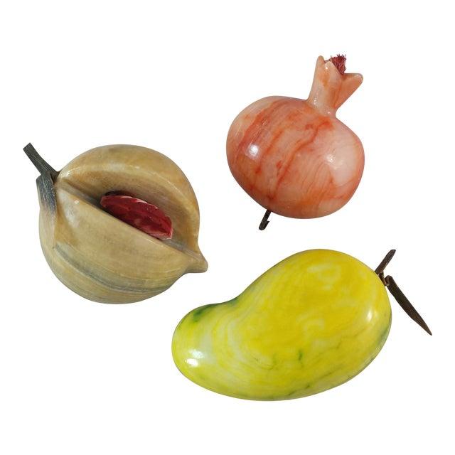 Vintage Marble Fruit - 3 Pieces For Sale