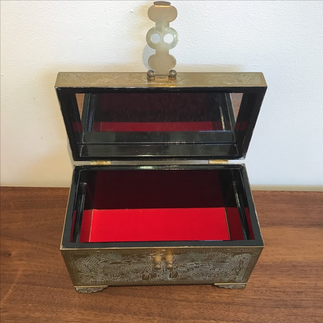 Frederick Cooper Chicago Brass Trinket Jewelry Box For Sale - Image 7 of 8