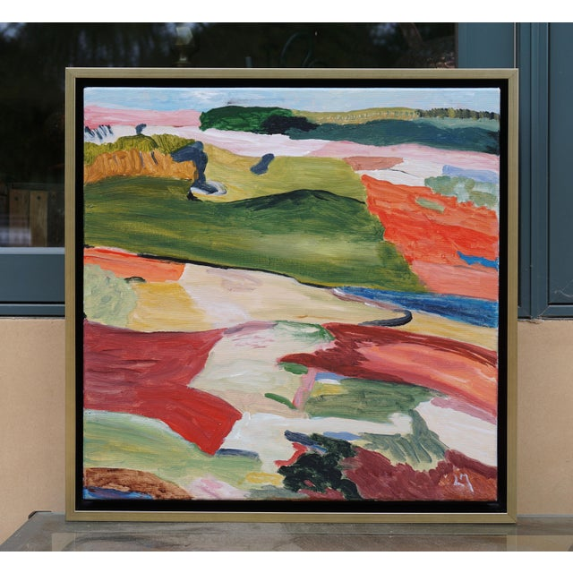 """""""Lofty Goal"""" Abstract Landscape Painting by Laurie MacMillan, Framed For Sale In Los Angeles - Image 6 of 6"""